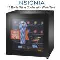 Insignia� - 16 Bottle Wine Cooler with Free Wine Tote - Black