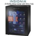 Insignia� - 24 Bottle Wine Cooler with LED Display & Touch Controls and  Free Wine Tote - Black