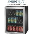 Insignia�  78 Can 2.2 CF Beverage Cooler with Cooling Options - Stainless Steel/Black