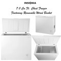 Insignia White 7.0 Cu.Ft. Chest Freezer With Removable Wire Basket