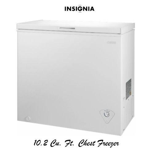 Insignia White 10 2 Cu Ft  Chest Freezer With Removable Wire