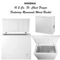 Insignia White 10.2 Cu.Ft. Chest Freezer With Removable Wire Basket