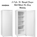Insignia White 5.8 Cu. Ft. Upright Freezer With Wheels For Easy Mobility