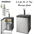 Insignia 5.6 Cu Ft. 2-Tap Beverage Cooler Kegerator With 2 Wire Shelves