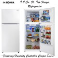 Insignia 9.9 Cu. Ft. Top-Freezer Refrigerator Featuring Humidity Controlled Crisper Doors