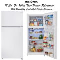 Insignia 18 Cu. Ft. White Top-Freezer Refrigerator Featuring Humidity Controlled Crisper Drawers