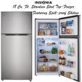 Insignia 18 Cu. Ft. Stainless Steel Top-Freezer Refrigerator With Spill-Proof Tempered Glass Shelves