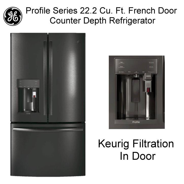 Ge Profile Series 222 Cu Ft French Door Counter Depth