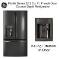 GE Profile Series 22.2 Cu. Ft. French Door Counter Depth Refrigerator With Keurig Brewing System