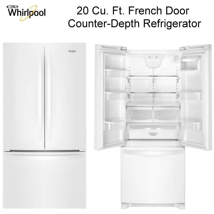 Whirlpool 20 Cu Ft French Door Counter Depth Refrigerator