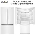 Whirlpool 20 Cu. Ft. French Door Counter Depth Refrigerator Featuring Customizable Draw Temps