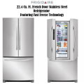 Frigidaire 22.4 Cu. Ft. French Door Stainless Steel Refrigerator Featuring Fast Freeze Technology