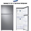 Samsung 21.1 Cu. Ft. Top Freezer Refrigerator Featuring FlexZone Technology In Stainless Steel Finis
