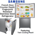 Samsung 24.5 Cu. Ft. Side-By-Side Refrigerator With Through Door Ice & Water Dispenser In Choice Of