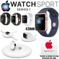Apple 42mm Watch Sport Series 1 In Various Colors, AppleCare+ Protection & Apple Watch Charging Dock