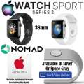 Apple 38mm Watch Sport Series 2 W/Stainless Steel Case, AppleCare+ & Apple Watch Charger Stand