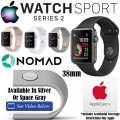 Apple 38mm Watch Sport Series 2 In Various Colors, AppleCare+ Protection & Apple Watch Charger Stand