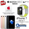 Apple 42mm Nike+ Watch and 128GB iPhone7 With AppleCare+ & 2Yr Accidental Warranty