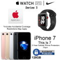 Apple 38mm Nike+ Watch (GPS & CELL) & 128GB iPhone7+ With AppleCare+ & 2Yr Accidental Warranty