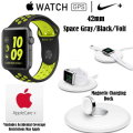 Apple Space Gray/Volt 42mm Nike+ Watch And Apple Magnetic Charging Dock