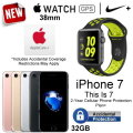 Apple 38mm Nike+ Watch And Apple 32GB iPhone 7 With Apple Care & 2YR Warranty