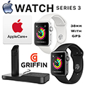 Apple 38mm 8GB Series 3 Watch Featuring GPS,  Includes AppleCare & Charging Stand