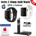Apple 38mm 16GB Series 3 Watch Featuring GPS + Cellular, Includes AppleCare & Charging Stand