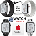 Apple 44mm Series 4 Nike+ Watch With GPS + Cellular Bundled With AppleCare+ Protection Plan