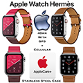 Apple 40mm Hermes Stainless Steel Case Watch W/GPS + Cellular Bundled W/AppleCare+ Protection Plan