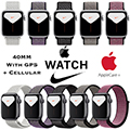Apple 40mm Series 5 Aluminum Nike Sport Loop Watch With GPS & Cellular Bundled With AppleCare+ Plan