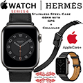 Apple 44mm Single Tour Stainless Steel Hermes Watch W/GPS + Cellular Bundled W/AppleCare+ Protection