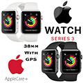 Apple 38mm Series 3 Aluminum Sport Watch With GPS Bundled With AppleCare+ Protection Plan