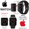 Apple 42mm Series 3 Aluminum Sport Watch With GPS & Cellular Bundled With AppleCare+ Protection Plan