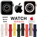 Apple 40mm Series 6 Aluminum Sport Watch With GPS Bundled With AppleCare+ Protection Plan