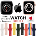 Apple 40mm Series 6 Aluminum Sport Watch With GPS & Cellular Bundled With AppleCare+ Protection Plan
