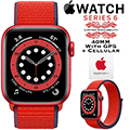 Apple 40mm Series 6 Aluminum Sport Loop Watch With GPS & Cellular Bundled With AppleCare+ Protection