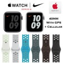 Apple 40mm Series 6 Aluminum Nike Sport Watch With GPS & Cellular Bundled With AppleCare+ Protection