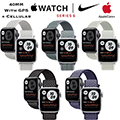 Apple 40mm Series 6 Aluminum Nike Sport Loop Watch With GPS & Cellular Bundled With AppleCare+ Plan
