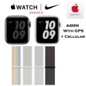 Apple 44mm Series 6 Aluminum Nike Sport Loop Watch With GPS & Cellular Bundled With AppleCare+ Plan
