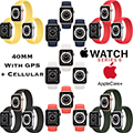 Apple 40mm Series 6 Aluminum Sport Solo Loop Watch With GPS & Cellular Bundled With AppleCare+ Plan