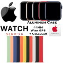 Apple 44mm Series 6 Aluminum Sport Solo Loop Watch With GPS & Cellular Bundled With AppleCare+ Plan