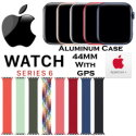 Apple 44mm Series 6 Aluminum Braided Solo Loop Watch With GPS Bundled With AppleCare+ Protection Pla