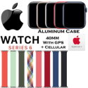Apple 44mm Series 6 Aluminum Braided Solo Loop Watch With GPS & Cellular Bundled With AppleCare+ Pla