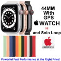Apple 44mm Watch SE With GPS & Solo Loop Bundled With AppleCare+ Protection Plan