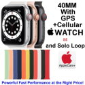 Apple 40mm Watch SE With GPS + Cellular & Solo Loop Bundled With AppleCare+ Protection Plan
