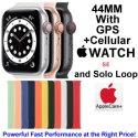 Apple 44mm Watch SE With GPS + Cellular & Solo Loop Bundled With AppleCare+ Protection Plan