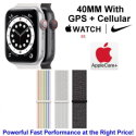 Apple 40mm Watch Nike SE With GPS + Cellular & Nike Sport Loop Bundled W/ AppleCare+ Protection Plan