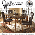 Clean Contemporary Design 5-Piece Dinette Featuring Faux Marble Top