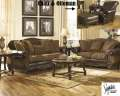 Old World Style Defines This 3PC Package Combining Blended Leather W/Beautifully Detailed Upholstery