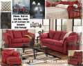 26PC LivingRoom Pkg W/Salsa Upholstery,Tables,Lamps,Rug, Accessories,Wall Art, Accent Pillows & More